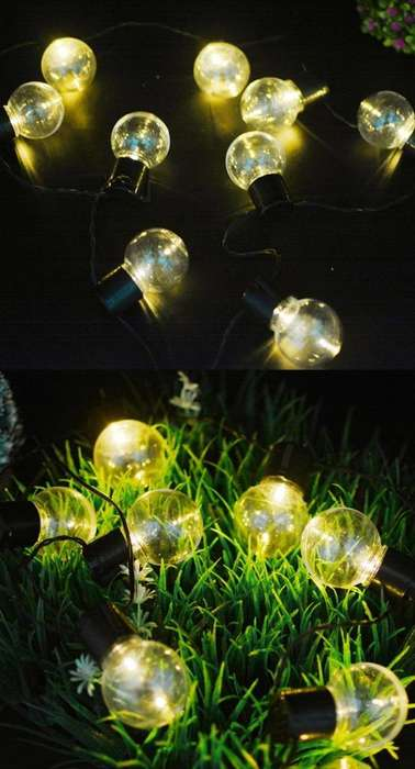 Luces Led fiesta jardn <strong>patio</strong> decoracin solar