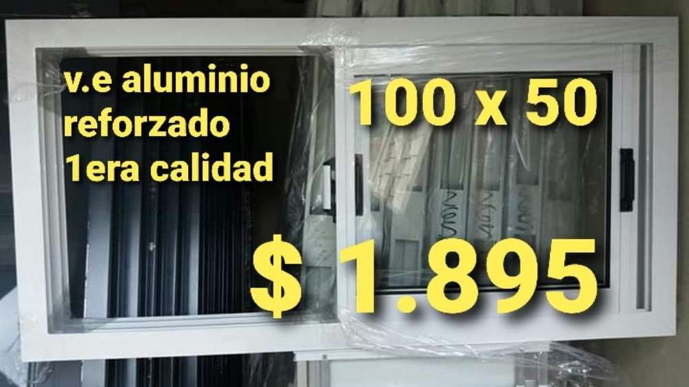 <strong>ventana</strong> Alumino 100 X 50