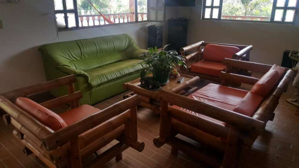 Muebles Sala en Guadua