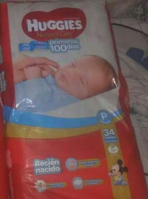 Huggies Natural Care 34 Pañales 360 C/u