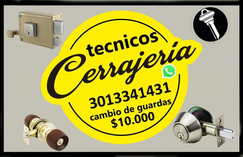 Llaves pasto 3013341431 cambio de guardas en 10.000 pesos