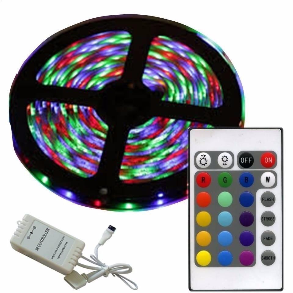 CINTA LED 5050 RGB Y UNICOLOR CON RESPECTIVO CONTROL Y TRANSFORMADOR