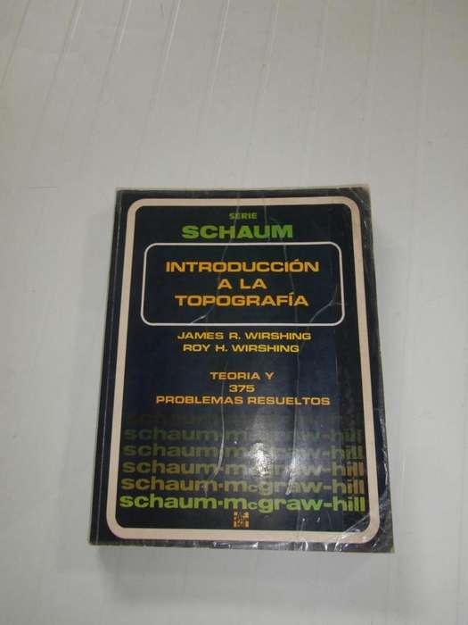 Libro INTRODUCCION A LA TOPOGRAFIA de Schaum, valor 8 dólares.