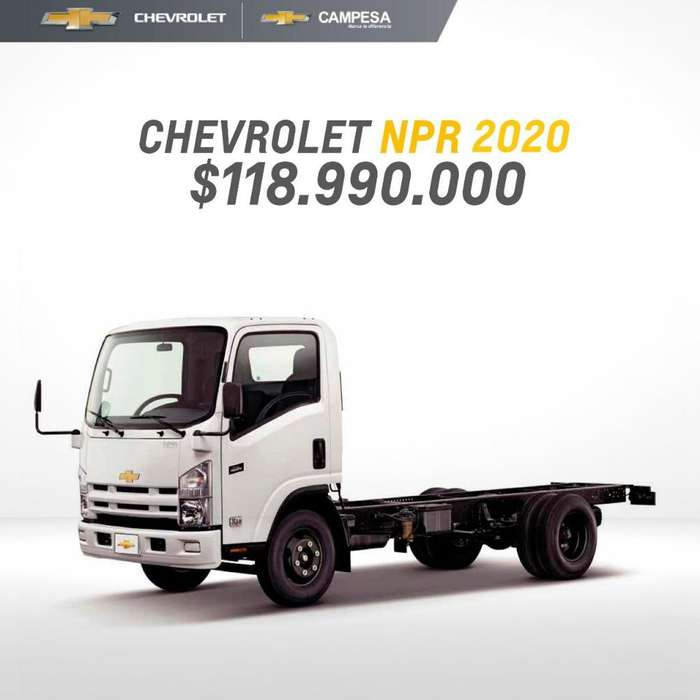 Chevrolet Npr Modelo 2020 con Frenos Abs