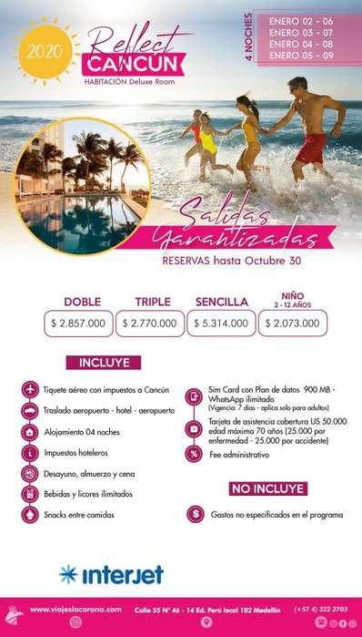 Viaje a Cancún H. FEFLECT CANCÚN con Viajes la Corona 4 Noches