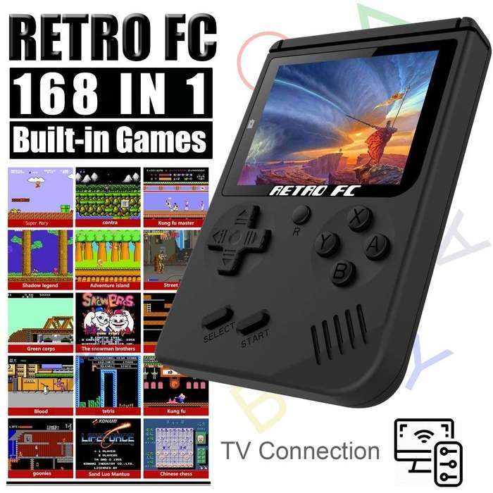 Game Boy Retro Color 168 Juegos, Conecta Al Tv