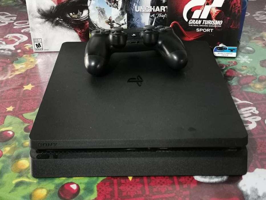 Ps4 Consola Play Station 4 Slim 1tb 4 Juegos