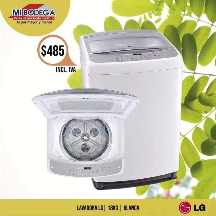 Lg <strong>lavadora</strong> Smart Inverter 18 Kg Blanco Incluido Iva