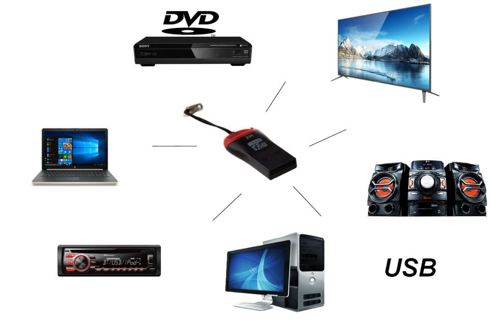ADAPTADOR / LECTOR / CONVERTIDOR MICRO SD A USB