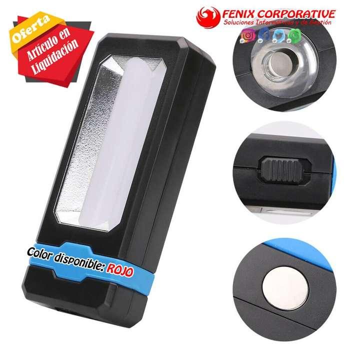 2 en 1 linterna LED con gancho magnético incorporado luz de trabajo Camping magnético