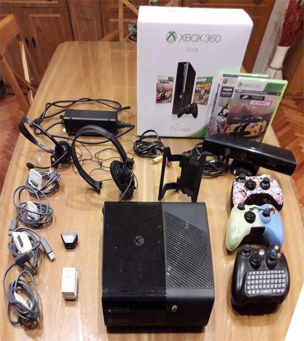 Xbox 360 250gb Con Kinect Y 4 Juegos Original