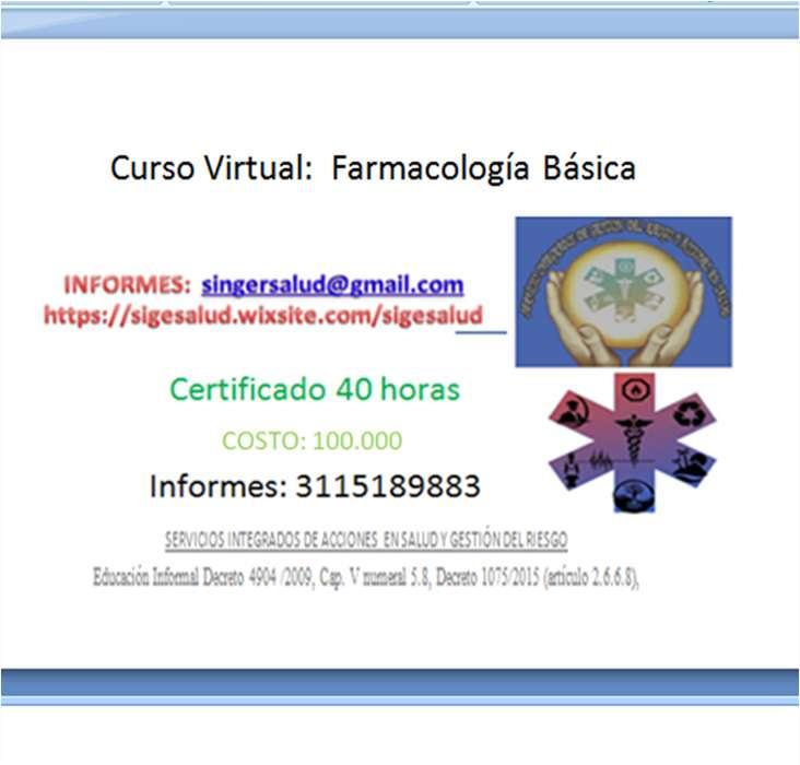100.000 CURSO VIRTUAL: Farmacología Básica