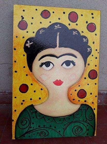 Vendo cuadro pintado a mano de Frida Kahlo