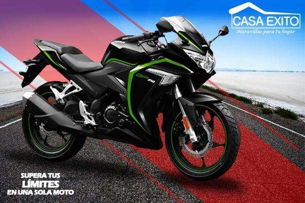 Moto Loncin Lx250 250cc Año 2018 Tipo Ninja Color Negro / Blanco Casa Éxito