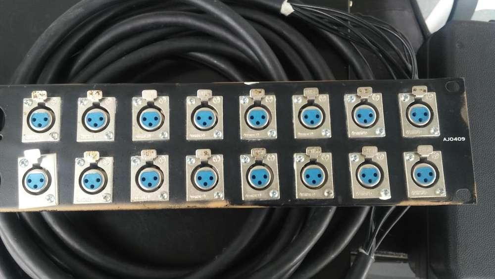 16 XLR Hembra y 4 Machos con rack