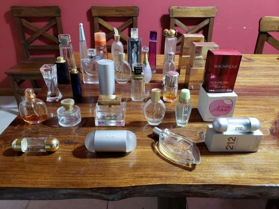 Lote Frascos Perfumes Importados
