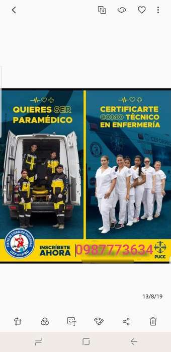 Cursos de Paramédico Y Enfermeria
