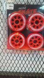 Set de 8 Ruedas Patín de 90 mm