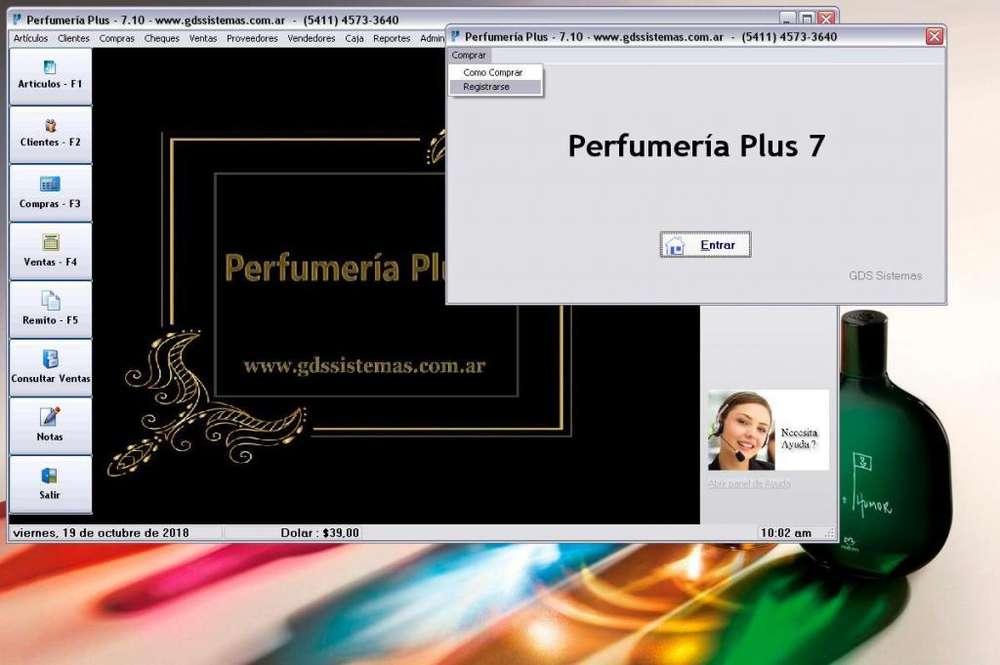 Programa para PERFUMERÍAS -- gestión y facturación -- software GDS Sistemas