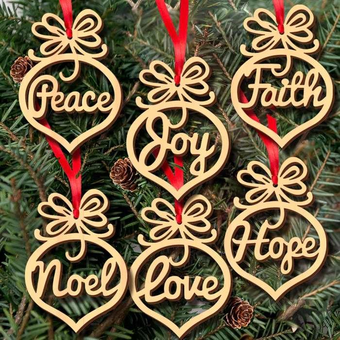 Bolas de Navidad en MDF personalizadas