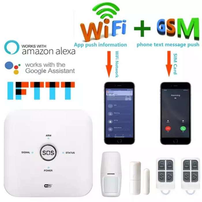 Kit de Seguridad Alarma Wifi & Gsm Tuya