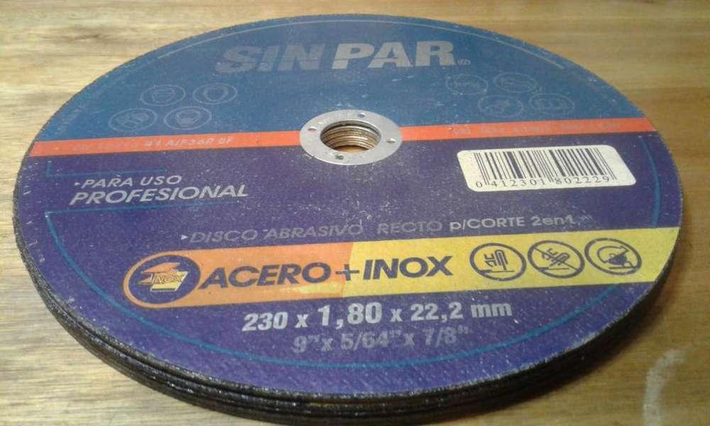 DISCO DE CORTE 2 EN 1 ACERO INOXIDABLE SIN PAR 230 X 1,8 X 22,2