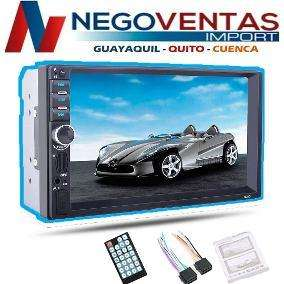 RADIO PARA CARRO DOBLE DIN MP5 USB SD FM AUX BLUETOOTH CON MIRROR LINK PANTALLA DE 7 PULG
