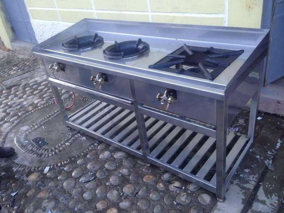 CocinaS ChiferaS EN ACERO INOXIDABLE NUEVOS