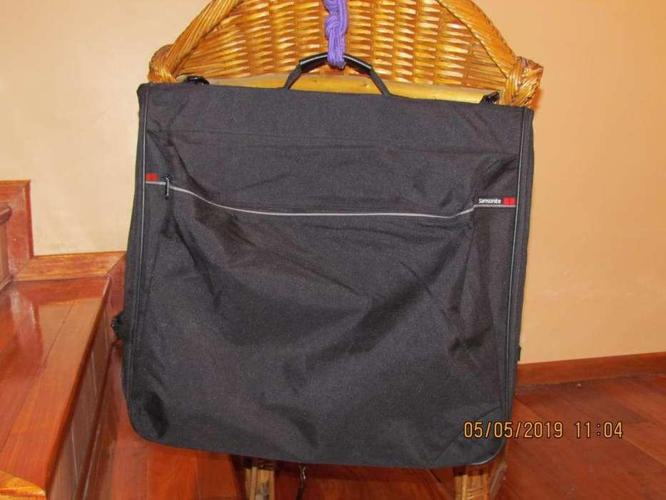 Portatrajes Samsonite Negro - Impecable - Solo 1 Uso