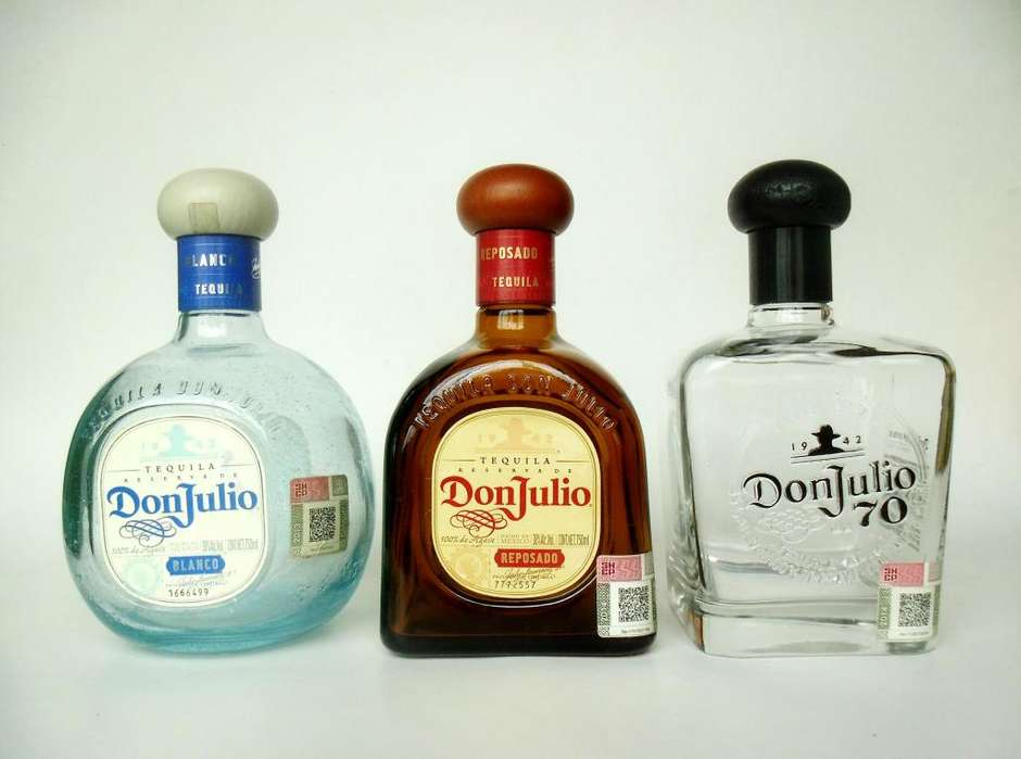 BOTELLA DE TEQUILA DON JULIO 750 ML VACIA