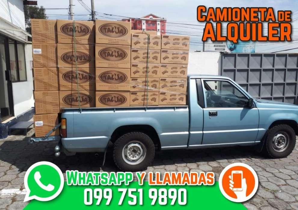 Camioneta de Alquiler 0997519890 Transporte, Fletes. 24 horas Dentro y fuera de ciudad