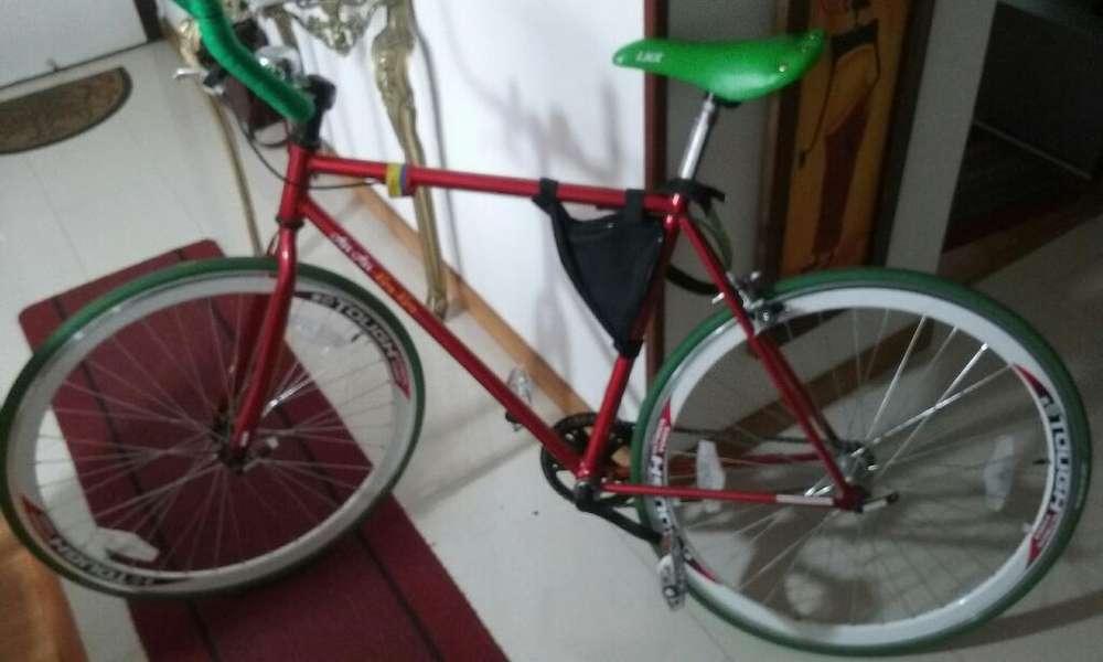 bicicleta FIXie Bicicleta Fixer Roja Verde bici