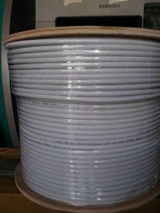 CABLE coaxial RG6 BLANCO Y NEGRO
