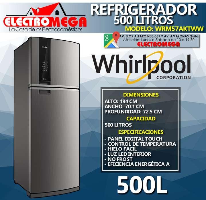 Refrigeradora Whirlpool 500l Con Panel Touch