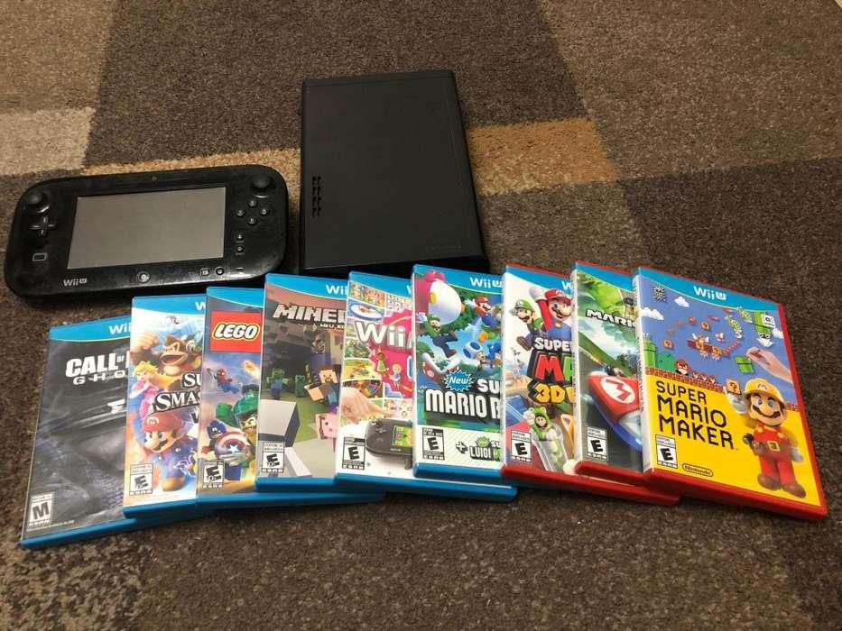 Vendo Nintendo WII U con 9 juegos originales