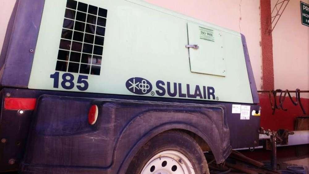 Compresor de aire SULLAIR 185 Con motor CAT ORIGINAL