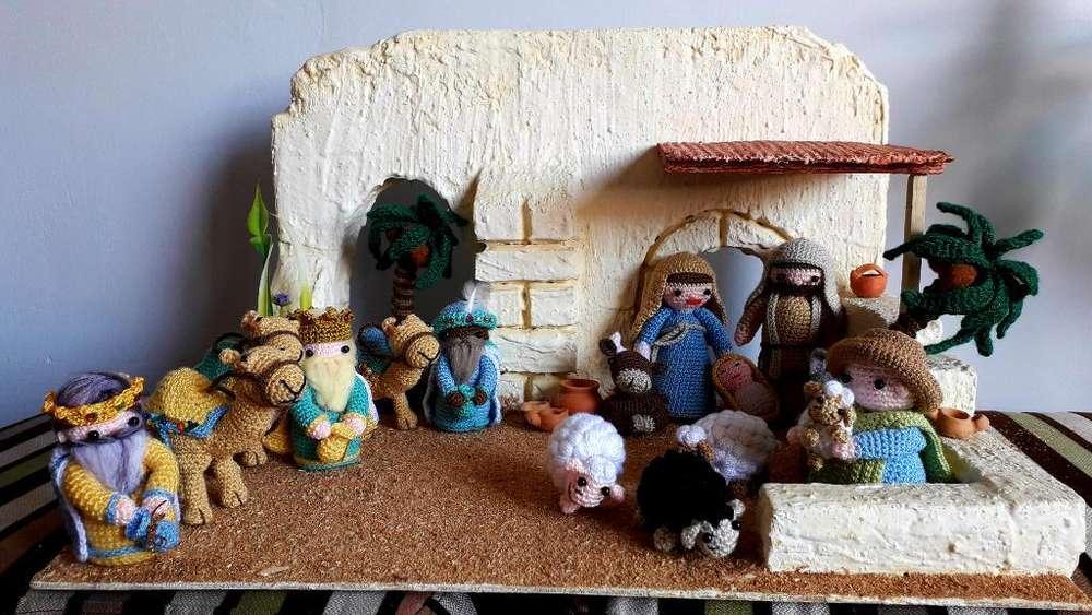 Pesebre Tejido a Crochet. 17 Figuras