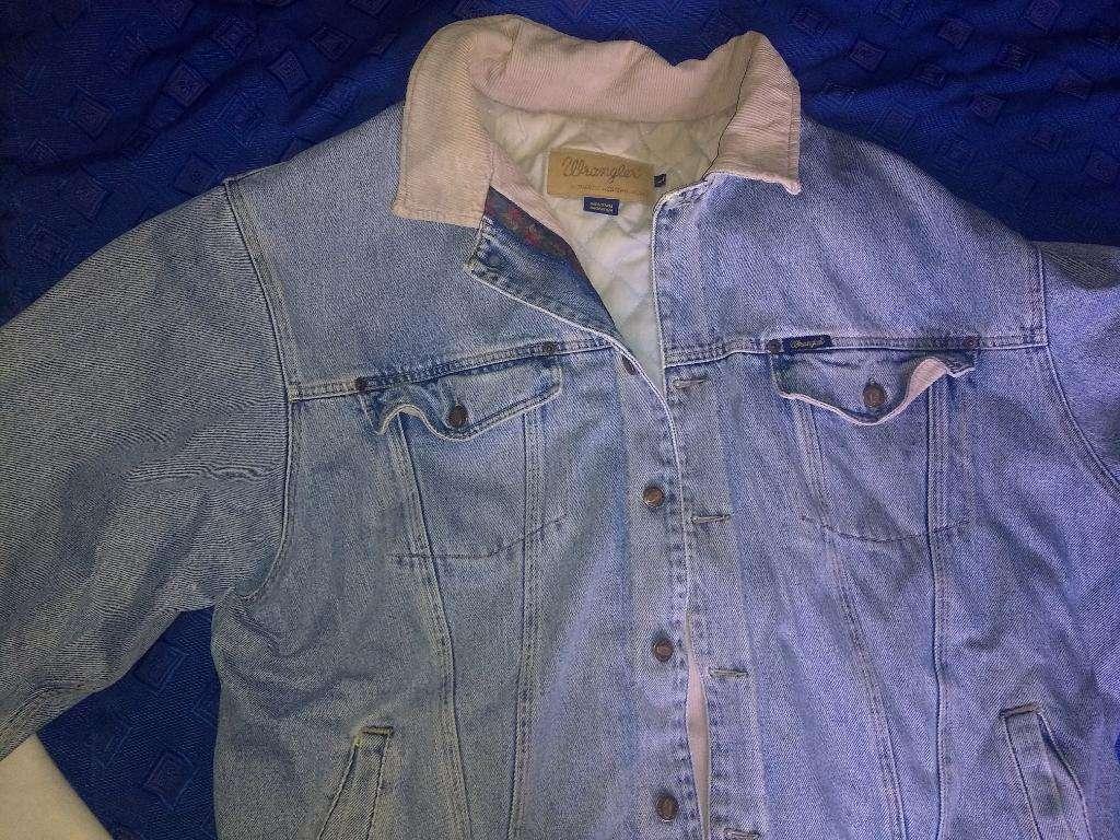 Campera Jeans Wrangler Original Forrada