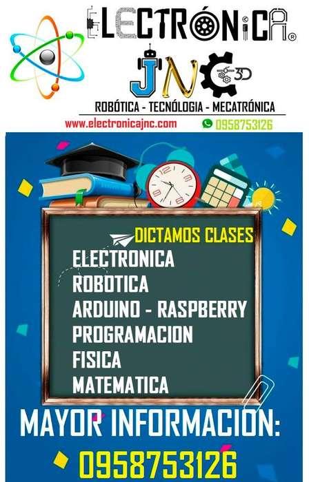 CLASES TRABAJOS ELECTRONICA ARDUINO RASPBERRY PROGRAMACION ROBOTICA FISICA MATEMATICA A DOMICILIO