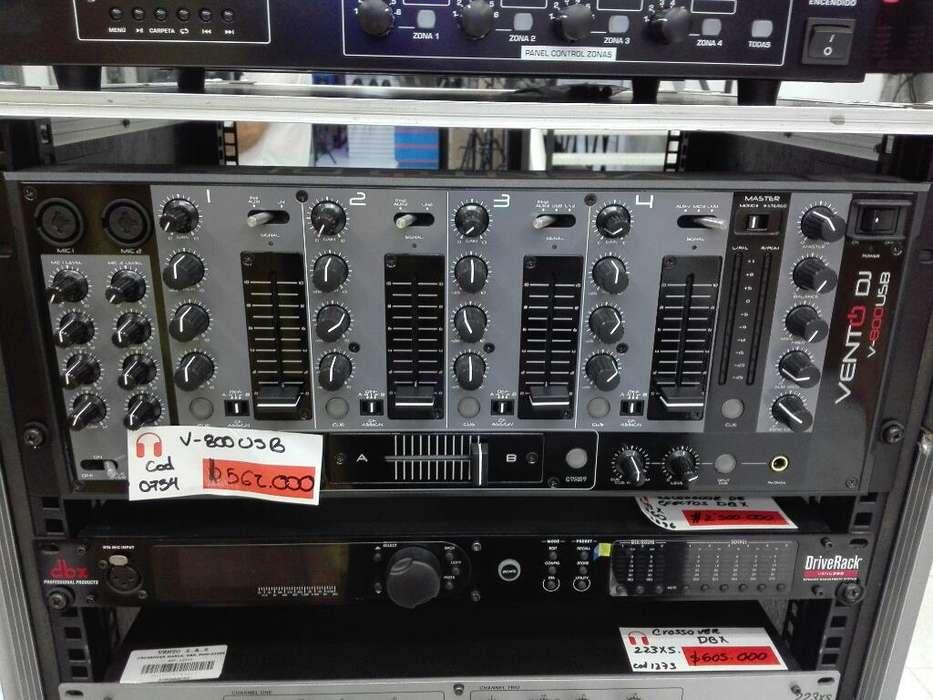 Mezclador Profesional Vento Dj V800usb