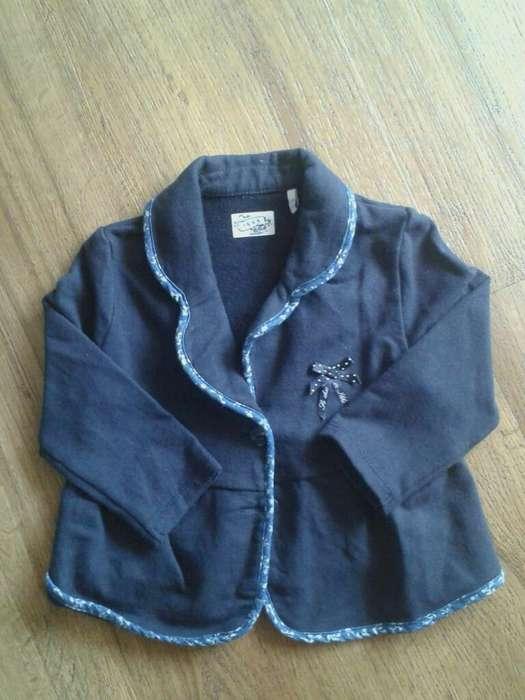 Saco Azul Usado de Niña Talla 12 Meses