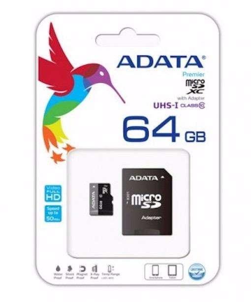 Tarjeta De Memoria Micro Sd 64 Gb Adata 64gb 64g Original