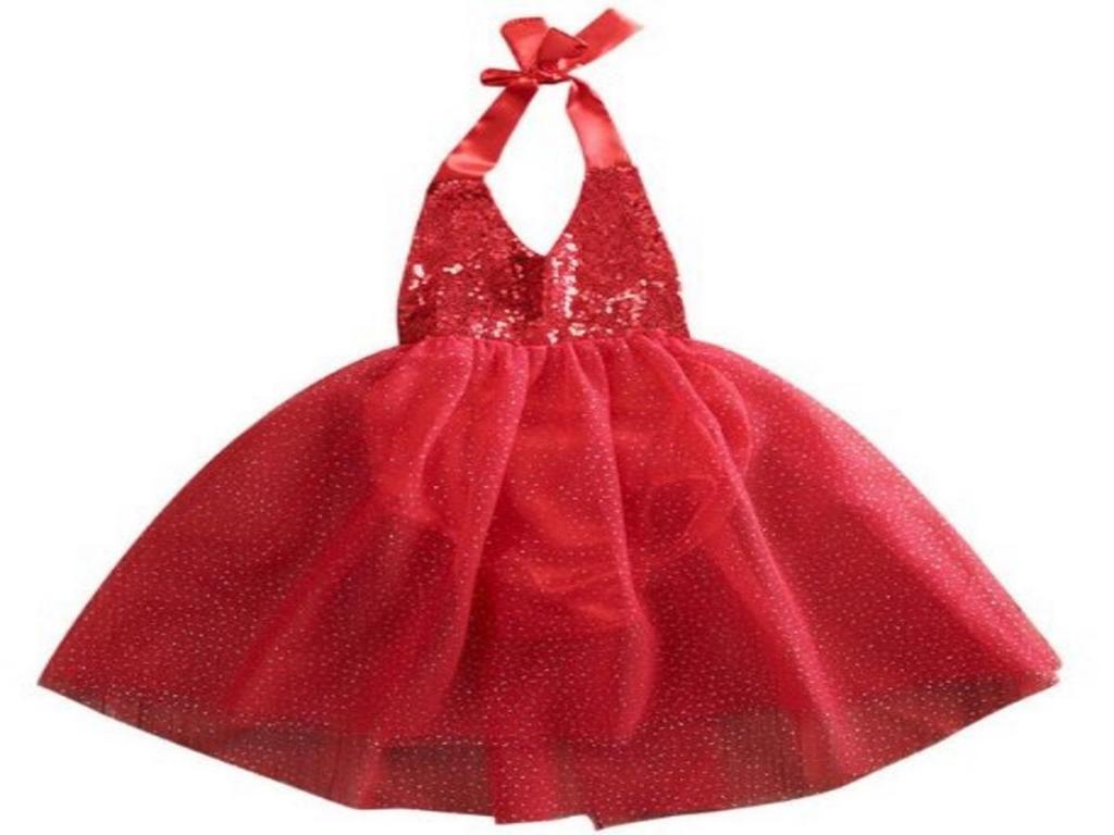 Vestido Niña Dama de Honor Lentejuelas Tull