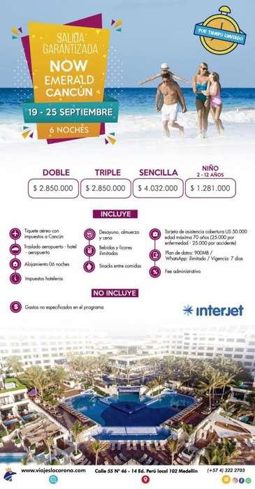 Viaje como un Rey a México Cancún NOW EMERALD CANCÚN con Viajes la Corona