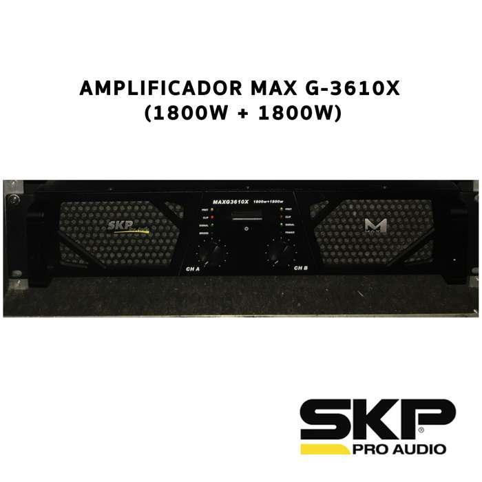 Amplificador Max G 3610x Potencia 3600w Rms Skp Pro Audio