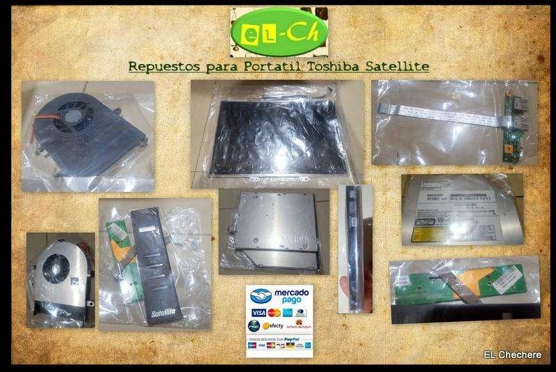 Vendo Repuestos para Portátil Toshiba Satellite