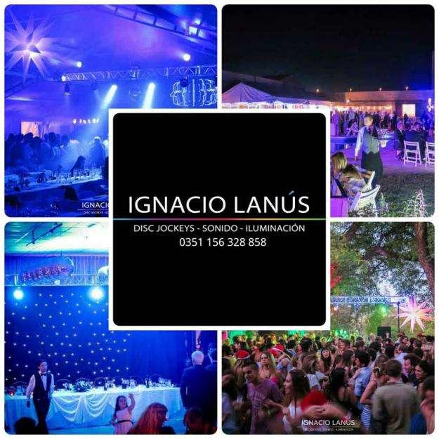 IGNACIO LANUS MUSICA PARA FIESTAS Y EVENTOS DJ SONIDO ILUMINACION LED PANTALLAS CASAMIENTOS VILLA ALLENDE CORDOBA