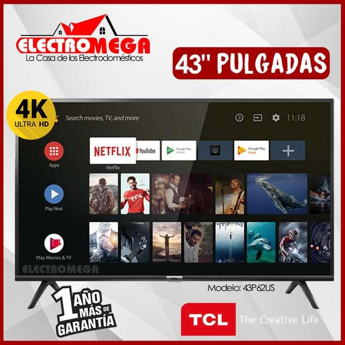Televisor Tcl 43 Pulgadas Smart TV Ultra Hd 4k - Hdr - Dolby Audio