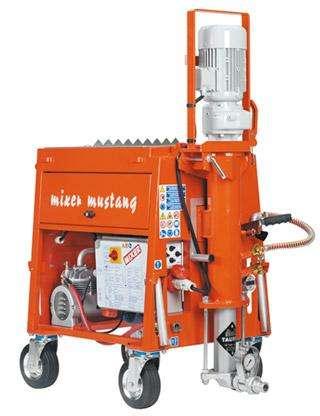 Máquina proyectora de Yeso y Mortero, Mixer Mustang, de ciclo completo. Triffasica