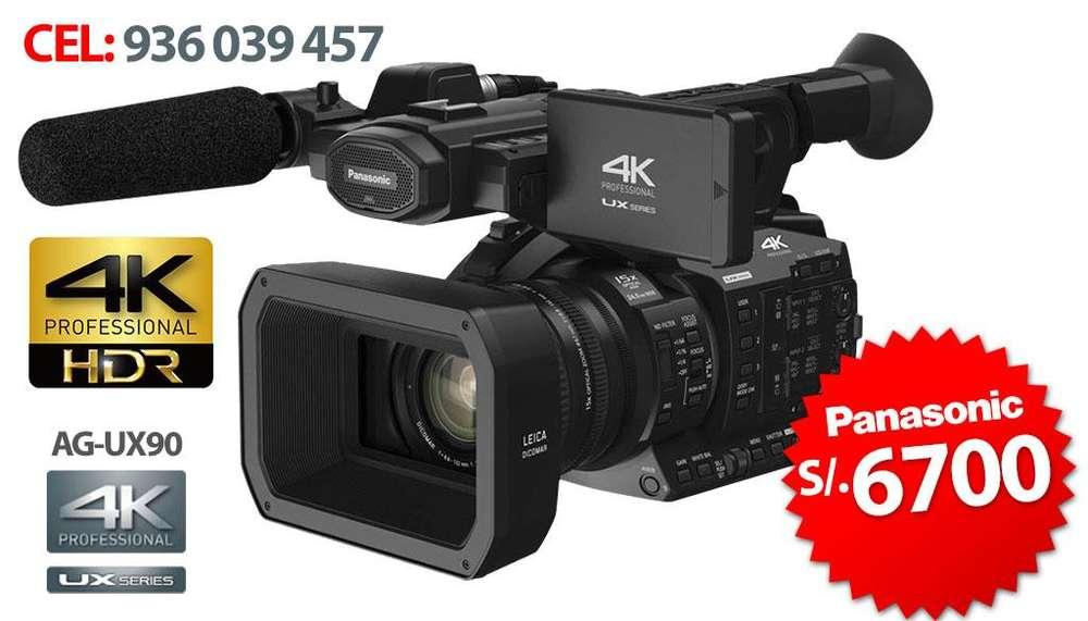 FILMADORA PROFESIONAL FULL HD 4K PANASONIC AGUX90 2019